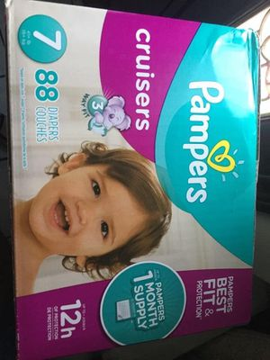 Pampers cruisers size 7 diapers for Sale in Downey, CA