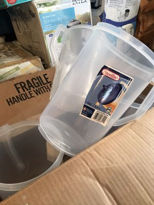 6 plastic jugs no lids for Sale in Fresno, CA