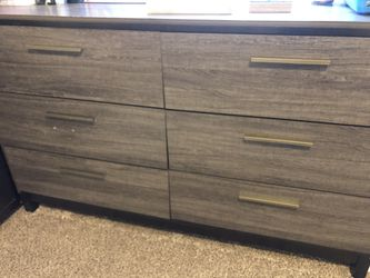 Bed Frame and Dresser with Mirror for Sale in Los Angeles,  CA