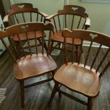 4 Solid Wood Kitchen Chairs for Sale in Sanford, NC
