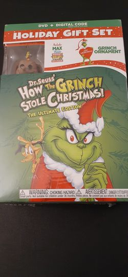 Dr. Seuss's HOW The GRINCH STOLE CHRISTMAS (DVD + Digital!) NEW! Holiday GIFT Set! for Sale in Lewisville,  TX