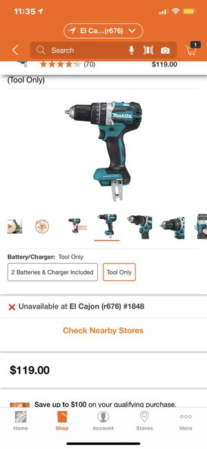 Makita 18-Volt LXT Lithium-Ion 1/2 in. Brushless Cordless Hammer Driver-Drill (Tool Only) for Sale in El Cajon, CA