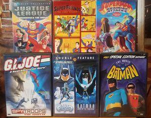 Superman Batman GI JOE Justice League Superhero DVD Lot Movie Animated Cartoons for Sale in Tampa, FL