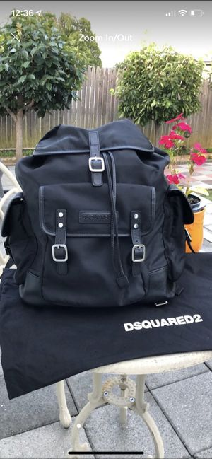 Dsquared2 Black Nylon Backpack for Sale in College Park, GA