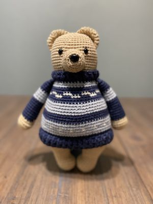Handmade and crocheted Stuffer Sweater Bear for Sale in Houston, TX