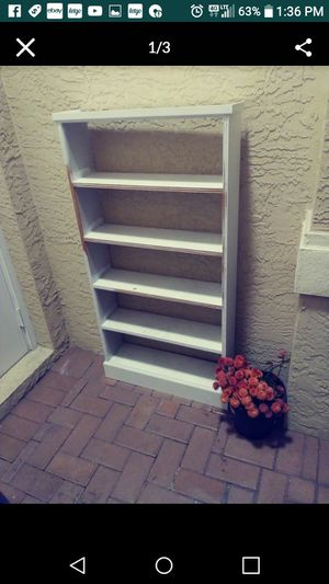 Tall narrow white shelf for Sale in Fort Myers, FL