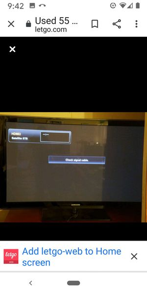 Free 55 in Samsung TV free for Sale in Manteca, CA