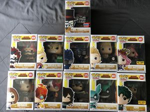 Funko Pop My Hero Academia Deku All Might Ochaco Aizawa Vinyl Figure Anime Toy for Sale in Los Banos, CA