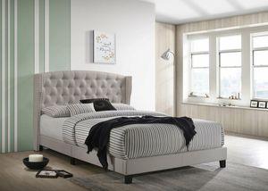 [SPECIAL] Rosemary Khaki Kijyng Platform Bed |5266 for Sale in Beltsville, MD