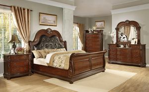 Queen bed dresser mirror and 1 night Stand for Sale in Miami, FL