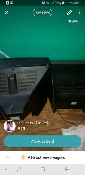 2 old box TVs both FREE for Sale in Cottonport, LA