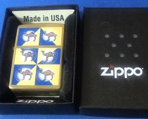 Vintage Brass Camel Lighter Dated XV-1995on the Zippo Dating Book Yellow And Blue Checkered Pattern New Zippo for Sale in Bridgeport, CT