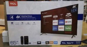 "65"" TCL roku smart 4K led uhd hdr tv for Sale in San Diego, CA"