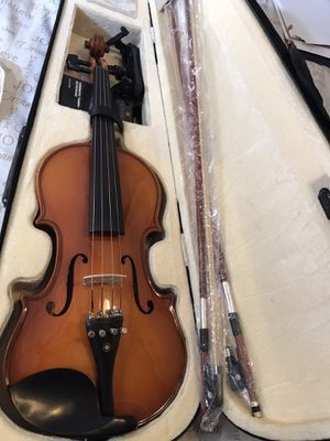 Cecilio Violin NEW!! With case, chromatic tuner, metronome, and high quality rosin for Sale in Elma, WA