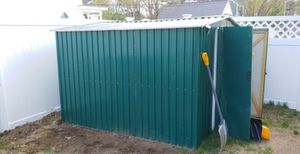 Metal galvanized garden shed, 8×8, 1.5 yr old for Sale in Methuen, MA