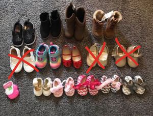 Toddler girl shoes and boots for Sale in Las Vegas, NV