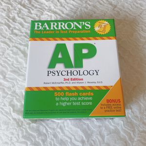 BARRON'S AP psychology 3rd Edition 500 flash cards for Sale in Aventura, FL