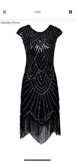 Women's Flapper Dresses 1920s Beaded Fringed Great Gatsby Dress.Medium Size for Sale in Reston,  VA
