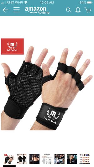 Mava Sports Ventilated Workout Gloves with Integrated Wrist Wraps and Full Palm Silicone Padding. Extra Grip & No Calluses. Perfect for Weight Liftin for Sale in Chicago, IL