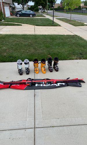 Salomon skis serie 6, ski boots SF110, Salomon, and head brand. for Sale in Des Plaines, IL