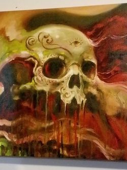 Skull Painting Canvas for Sale in Shafter,  CA