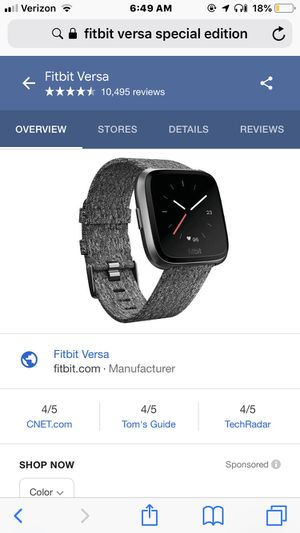 Fitbit Versa special edition pay with your watch for Sale in Houston, TX