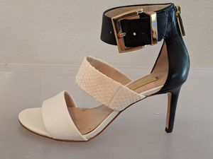 Louise et Cie leather black and white heels, like new, size 6M/ 36 for Sale in Denver, CO