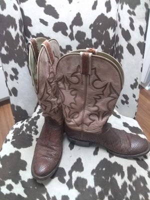 Men's Hondo Embossed Snakeskin Cowboy Boots for Sale in Lyons, GA