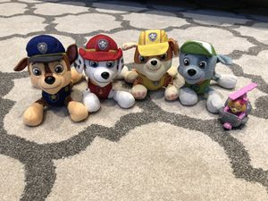 Paw patrol stuffed animals for Sale in Rochester, MI