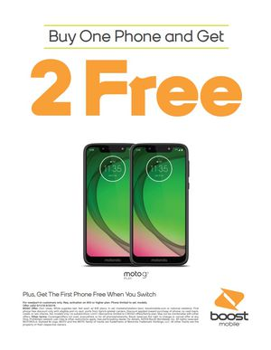 Buy one get 2 free! Boost Mobile! for Sale in West Valley City, UT