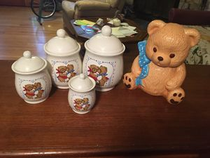 Teddy Bear canisters and cookie jar for Sale in Moneta, VA