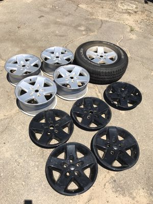 2012 Jeep Wrangler JK wheels with full wheel conversion SET OF 5 for Sale in Turlock, CA