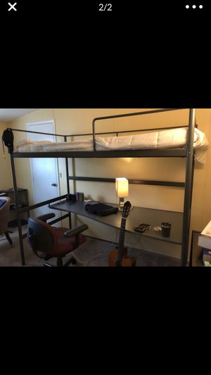 IKEA Tuffing Twin Loft Bed w Desk for Sale in Winter Haven, FL