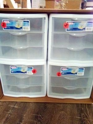 3 drawer plastic storage bins $10 each. for Sale in Norfolk, VA