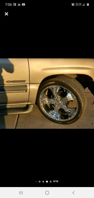 "24"" rims with new tires for Sale in Mesa, AZ"