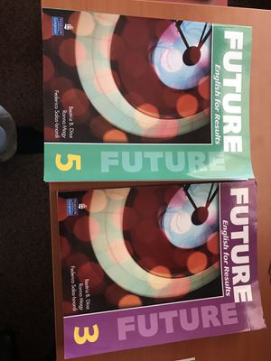 Future 3 &5 text books each one 25$ for Sale in Houston, TX
