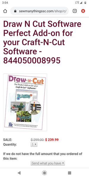 Draw-n-cut the perfect add-on for your craft-n+cut software for Sale in North Kansas City, MO