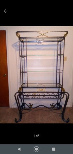 Large Iron & Glass Bakers Rack for Sale in Baytown, TX