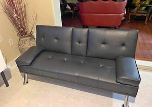 Leather futon for Sale in Kissimmee, FL