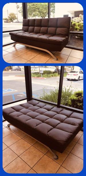 "🔥👍🔥Black or Dark Brown PU Futon Sofa Bed - 72.5"" x 36"" x 36.25""🔥👍🔥 for Sale in Pomona, CA"