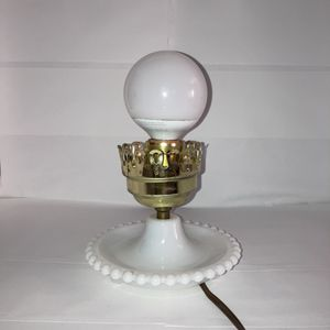 Vintage Milk Glass Hobnail Hurricane Electric Lamp Base for Sale in Sacramento, CA