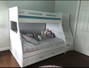 Bunk bed with lots of storage for Sale in Pompano Beach, FL