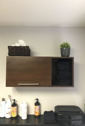 Above shampoo bowl cabinets 2 available OBO for Sale in Houston, TX