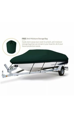 Seamander Trailerable Runabout Boat Cover Fit V-Hull Tri-Hull Fishing full size for Sale in Garden Grove, CA