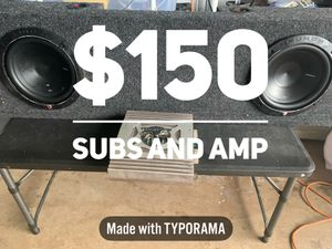 P1 subs in box and amp for Sale in Waipahu, HI