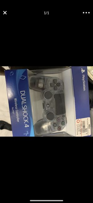 New Crystal Clear PS4 Control for Sale in New York, NY