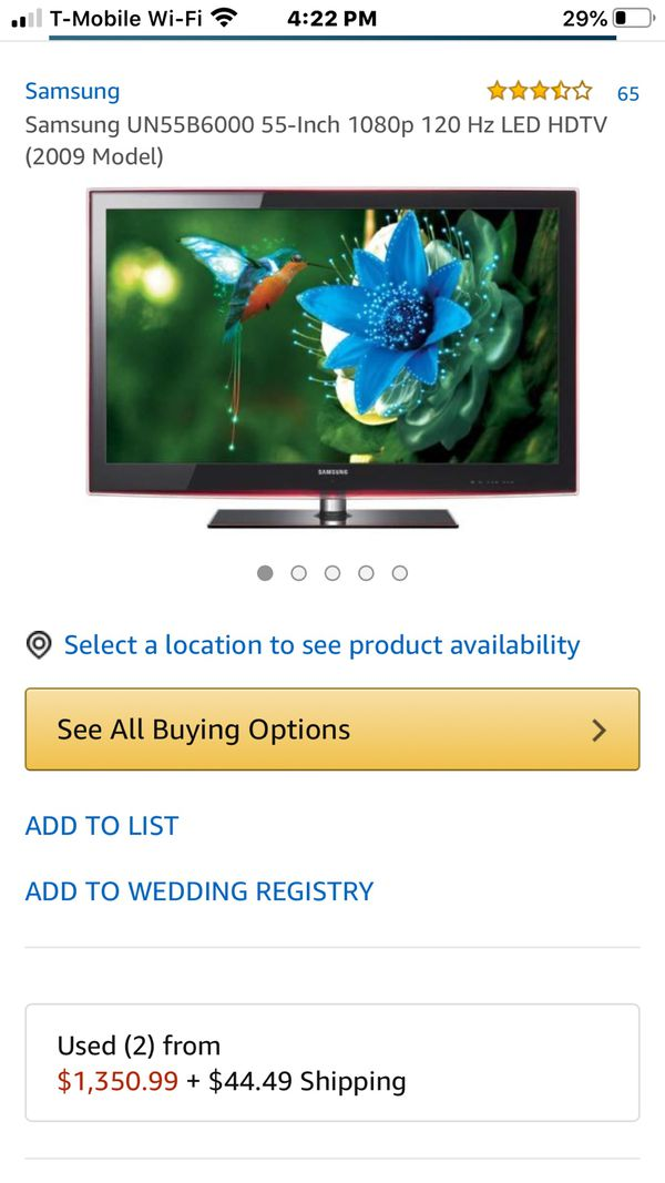 Samsung 55 inch with a free DVD Blu-ray player