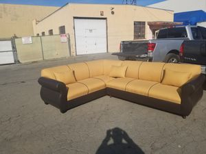NEW 7X9FT YELLOW FABRIC COMBO SECTIONAL COUCHES for Sale in Henderson, NV