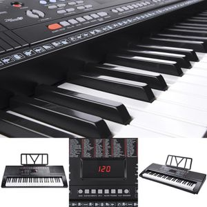 Musical Electronic Keyboard 61 Keys Instrument Black Band Hobbyist Piano Player for Sale in Montclair, CA