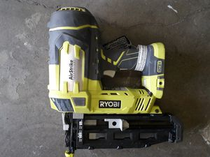 RYOBI 18-Volt ONE+ Lithium-Ion Cordless AirStrike 16-Gauge Cordless Straight Finish Nailer for Sale in Fresno, CA